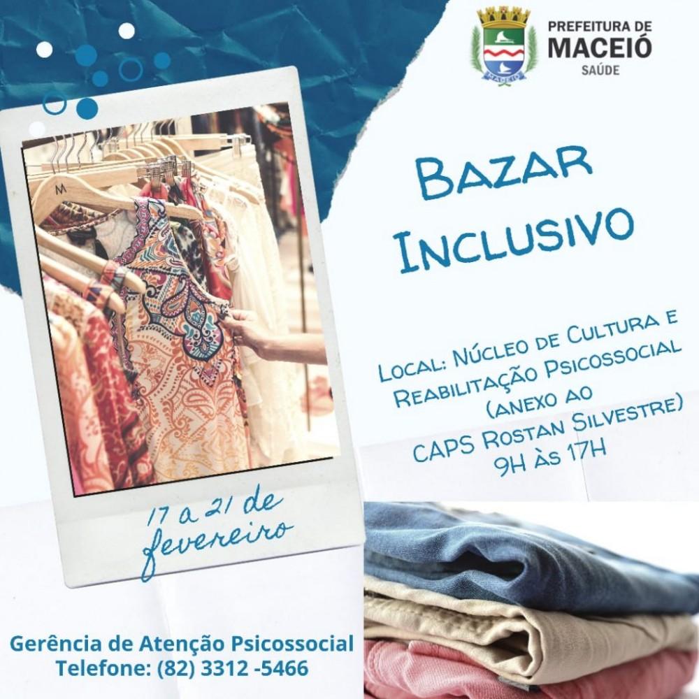 PREFEITURA DE MACEIÓ – Secretaria Municipal de Saúde promove Bazar Inclusivo para usuários da Saúde Mental