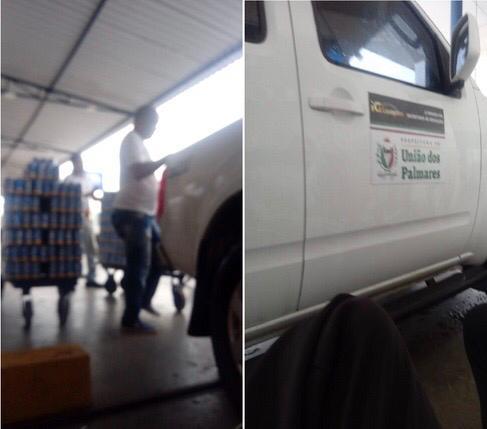 TA NA INTERNET – Veículo de prefeitura de União dos Palmares é flagrado carregando cerveja