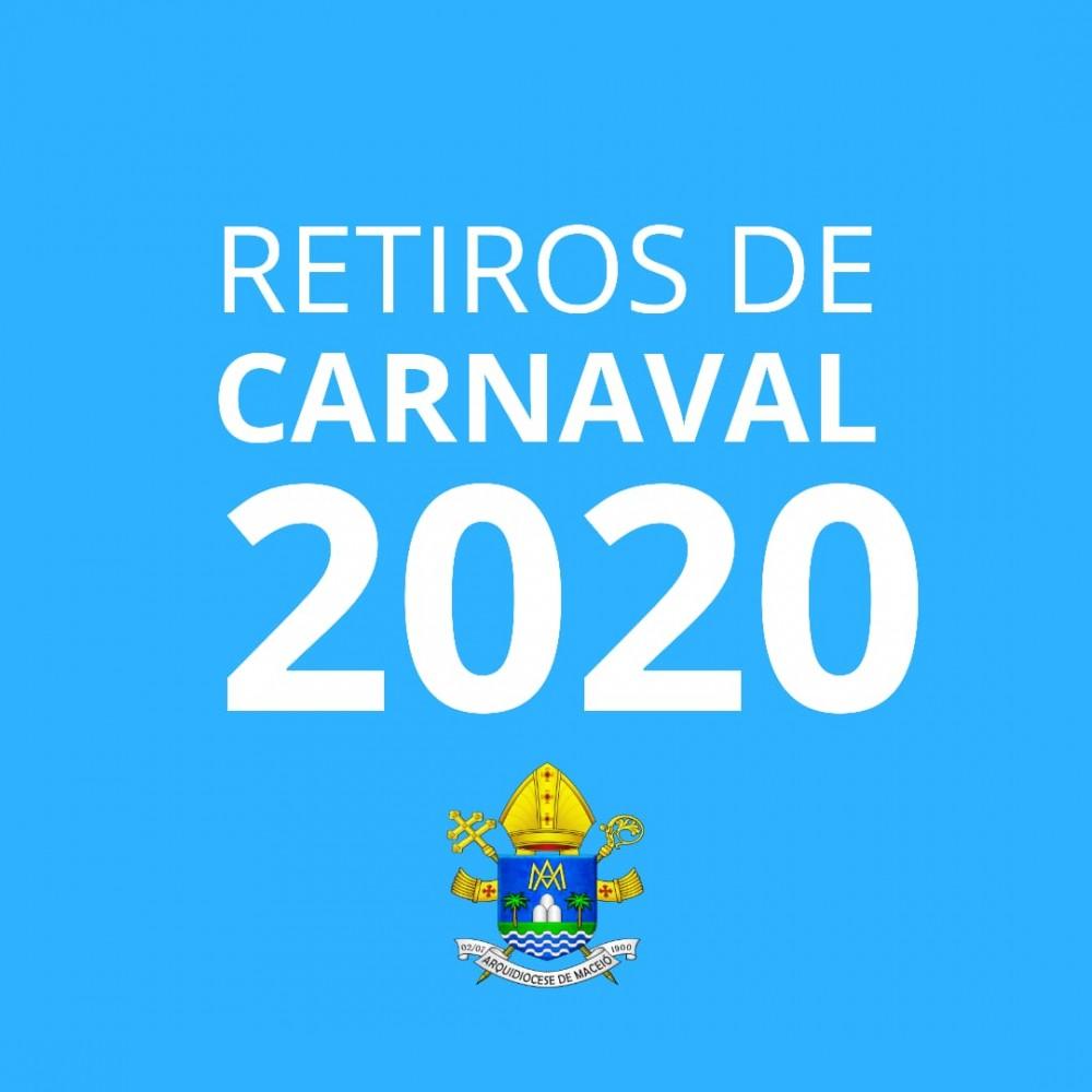 CARNAVAL NA FÉ! Arquidiocese de Maceió divulga horários e locais de retiros de Carnaval