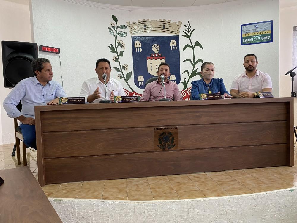 Presidente da Câmara participa de reunião para definir agenda comemorativa da Emancipação Política de Minador do Negrão